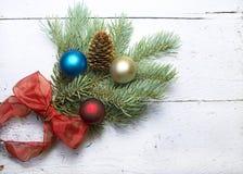La Navidad resistida blanco Fotografía de archivo libre de regalías