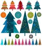La Navidad retra ilustración del vector