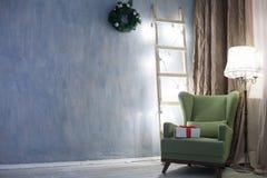 La Navidad retra de las guirnaldas de las decoraciones del Año Nuevo Foto de archivo