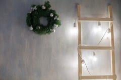 La Navidad retra de las guirnaldas de las decoraciones del Año Nuevo Imagen de archivo