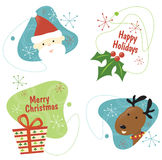 La Navidad retra fijó 1 Imagen de archivo libre de regalías
