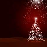 La Navidad roja del árbol de navidad background Imagen de archivo libre de regalías