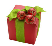 La Navidad roja Giftbox Fotografía de archivo libre de regalías