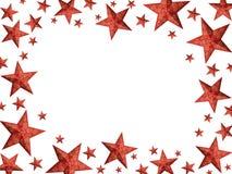 La Navidad roja stars el marco Fotografía de archivo libre de regalías