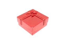 La Navidad roja y caja de regalo importante del festival Imágenes de archivo libres de regalías