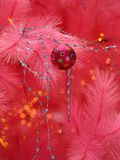 La Navidad rosada Imágenes de archivo libres de regalías
