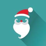 La Navidad Santa Card retra Imagenes de archivo