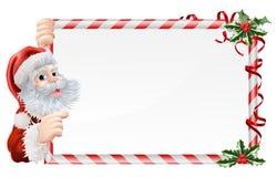 La Navidad Santa Claus Sign Fotos de archivo libres de regalías