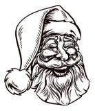 La Navidad Santa Claus Vintage Woodcut Style Foto de archivo