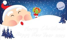 La Navidad Santa Cute de la historieta Imagen de archivo libre de regalías
