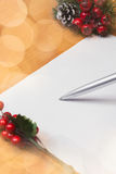 La Navidad Santa Letter Fotos de archivo