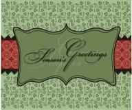 La Navidad sazona el papel pintado del fondo de los saludos Foto de archivo