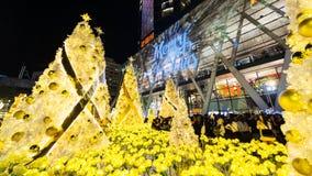 La Navidad se enciende para arriba en el mundo central, Bangkok Imagenes de archivo
