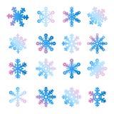 La Navidad, sistema del copo de nieve del Año Nuevo stock de ilustración