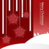 La Navidad stars la tarjeta de felicitación Fotos de archivo libres de regalías