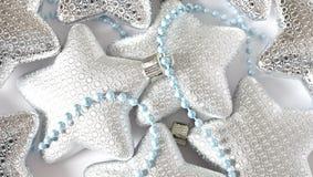 La Navidad stars los ornamentos Imagenes de archivo