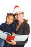La Navidad Storytime Imágenes de archivo libres de regalías