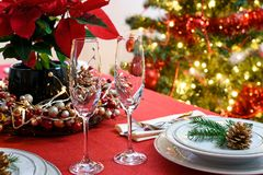 La Navidad - tabla de los Años Nuevos Imagen de archivo libre de regalías