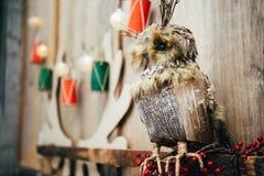 La Navidad Toy Owl Fotos de archivo libres de regalías