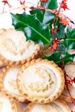 La Navidad tradicional pica las empanadas Fotografía de archivo