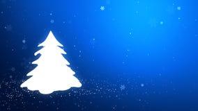 La Navidad tree_046 ilustración del vector