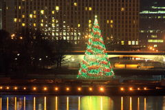 La Navidad Tree2 del parque de estado de la punta de Pittsburgh Fotografía de archivo