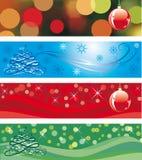 La Navidad tri - los paneles Foto de archivo