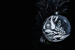 La Navidad triste de plata Imágenes de archivo libres de regalías