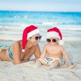 La Navidad tropical Imagen de archivo libre de regalías