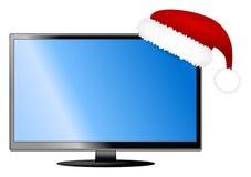 La Navidad TV aislada stock de ilustración