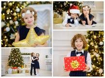 La Navidad - un día de fiesta preferido del ` s de los niños Fotos de archivo libres de regalías