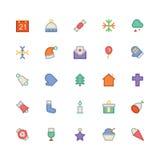 La Navidad Vectors los iconos 1 Foto de archivo libre de regalías