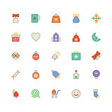 La Navidad Vectors los iconos 3 Imágenes de archivo libres de regalías