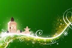 La Navidad verde abstracta - altamente detallada, ejemplo rico adornado fotos de archivo