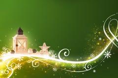 La Navidad verde abstracta - altamente detallada, ejemplo rico adornado imagenes de archivo