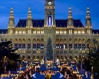 La Navidad vienesa justa Fotografía de archivo libre de regalías