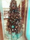 La Navidad Windows fotografía de archivo
