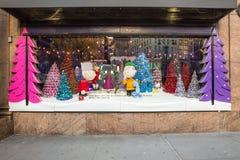La Navidad Windows de Macy Foto de archivo