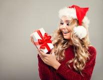 La Navidad Woman Smiling modelo Foto de archivo