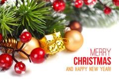 La Navidad y Año Nuevo. Fotos de archivo libres de regalías