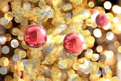 La Navidad y Año Nuevo en el fondo de la decoración Fotos de archivo libres de regalías