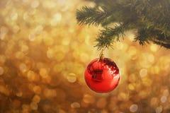 La Navidad y Año Nuevo en el fondo de la decoración Foto de archivo