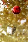 La Navidad y Año Nuevo en el fondo de la decoración Imagen de archivo