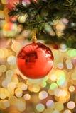 La Navidad y Año Nuevo en el fondo de la decoración Fotografía de archivo libre de regalías