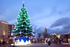 La Navidad y Año Nuevo en Moscú Imágenes de archivo libres de regalías