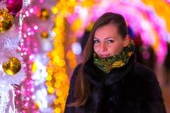 La Navidad y Año Nuevo en Moscú, Rusia Foto de archivo libre de regalías