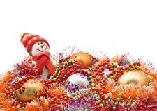 La Navidad y Año Nuevo - muñeco de nieve blanco divertido Imagenes de archivo