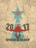 La Navidad y Año Nuevo Tarjeta de felicitación Foto de archivo