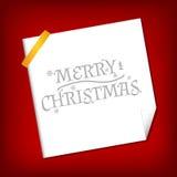 La Navidad y Año Nuevo. Tarjeta de felicitación del vector Foto de archivo