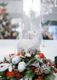 La Navidad y Años Nuevos de composición de las flores Foto de archivo